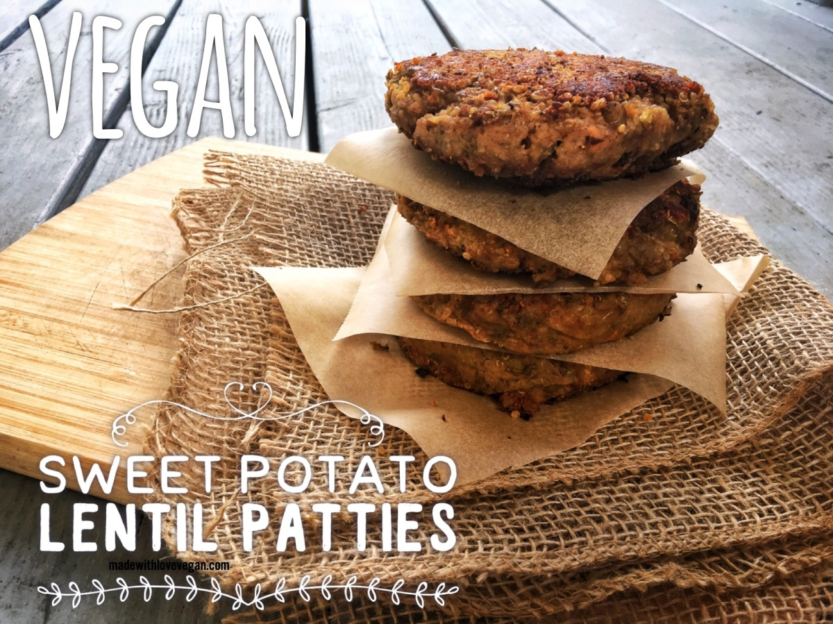 Sweet Potato Lentil Patties